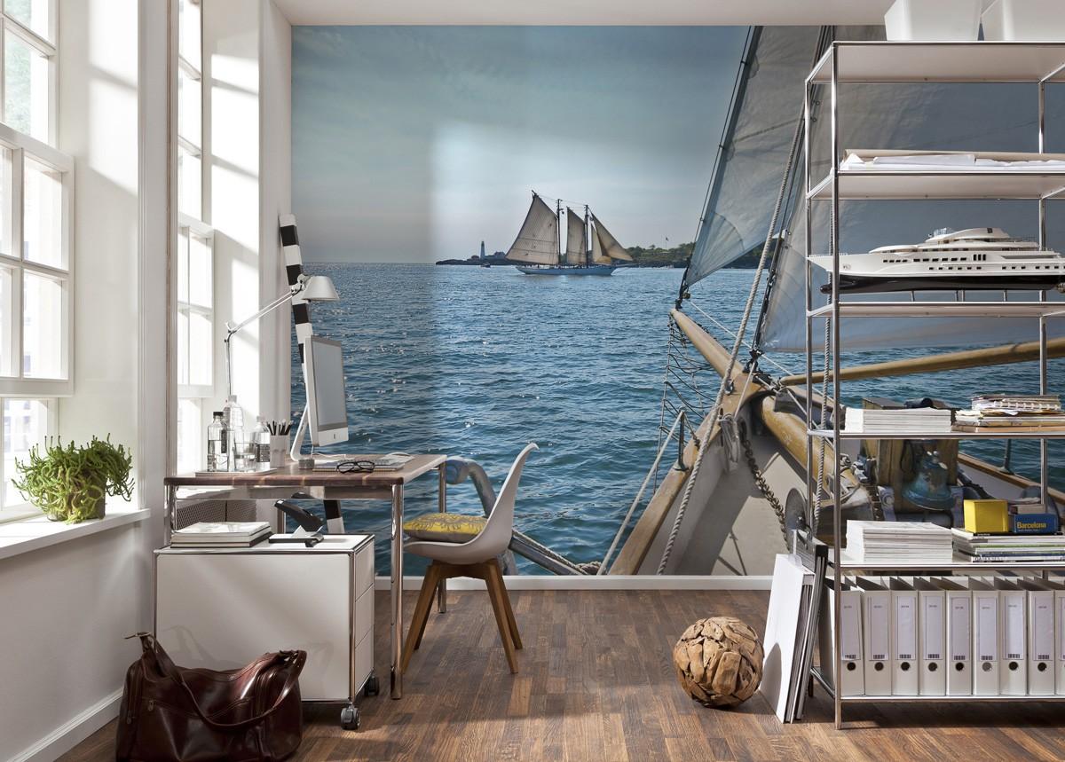 Постер с видом на море